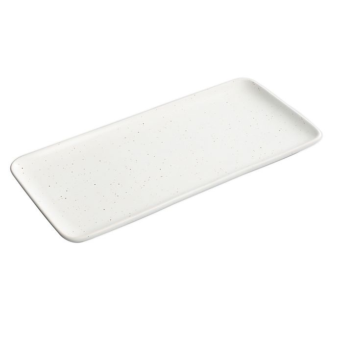 Alternate image 1 for Our Table™ Landon 13-Inch Rectangular Tray in Sea Salt