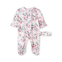 Little Me® Size 3M 2-Piece Floral Dream Footie and Headband Set in Pink