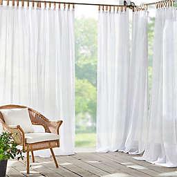 Elrene Home Fashions Darien Tab Top Sheer Indoor/Outdoor Curtain Panel
