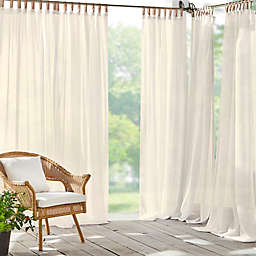 Elrene Home Fashions Darien 108-Inch Sheer Indoor/Outdoor Curtain Panel in Ivory (Single)