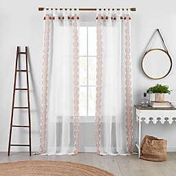Elrene Home Fashions Shilo Tab Top Sheer Window Curtain Panel