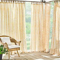 Elrene Home Fashions Verena 95-Inch Sheer Indoor/Outdoor Curtain Panel in Marigold (Single)