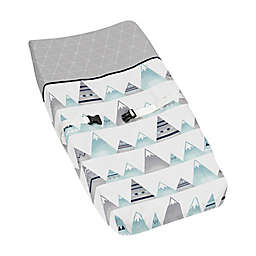 Sweet Jojo Designs Mountains Changing Pad Cover in Grey/Aqua