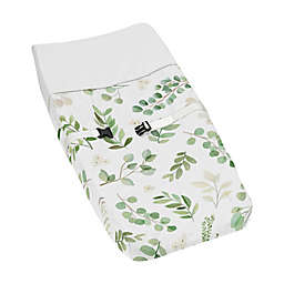 Sweet Jojo Designs® Watercolor Botanical Leaf Changing Pad Cover in Green/White