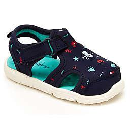 carter's® Size 5 Sea Print Sandal in Navy