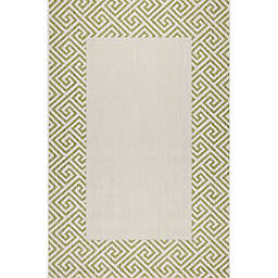 KAS Rugs Calliope 7'10 x 10'10 Indoor/Outdoor Area Rug in Green
