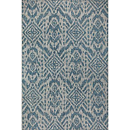 Global Caravan Aleah Indoor/Outdoor Rug in Blue