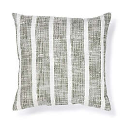 Bee & Willow™ Fall Woven Duplex Stripe Square Outdoor Throw Pillow in Winter Moss