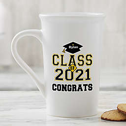 Cheers To The Grad Latte Mug in White