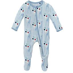 KicKee Pants® Balloon Giraffe Footie Pajama in Blue