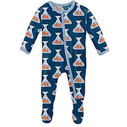 KicKee Pants® Goldfish Footie Pajama in Navy