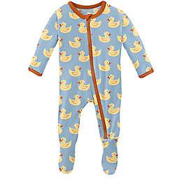 KicKee Pants® Pond Rubber Duck Footie Pajama in Blue