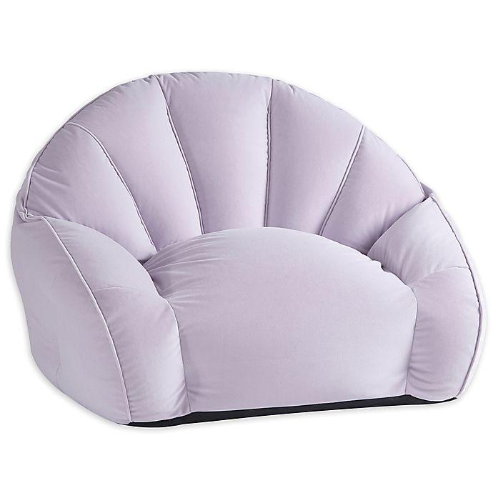 Alternate image 1 for Wild Sage™ Velvet Segmented Bean Bag Chair in Iris