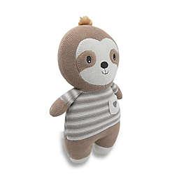 Living Textiles Skylar Sloth Huggable Cotton Knit Toy