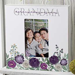 Floral Love Grandma Personalized Vertical Box Frame