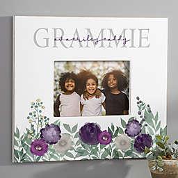 Floral Love Grandma Personalized Horizontal Wall Frame