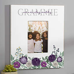 Floral Love Grandma Personalized Vertical Wall Frame