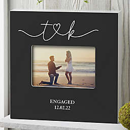 Drawn Together By Love Engagement Personalized Horizontal Box Frame