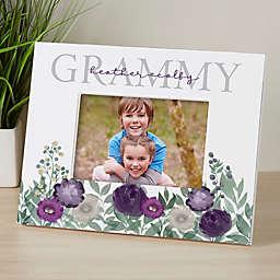 Floral Love Grandma Personalized Horizontal Tabletop Frame