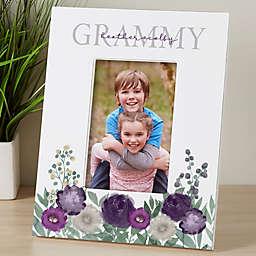Floral Love Grandma Personalized Vertical Tabletop Frame
