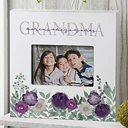 Floral Love Grandma Personalized Horizontal Box Frame