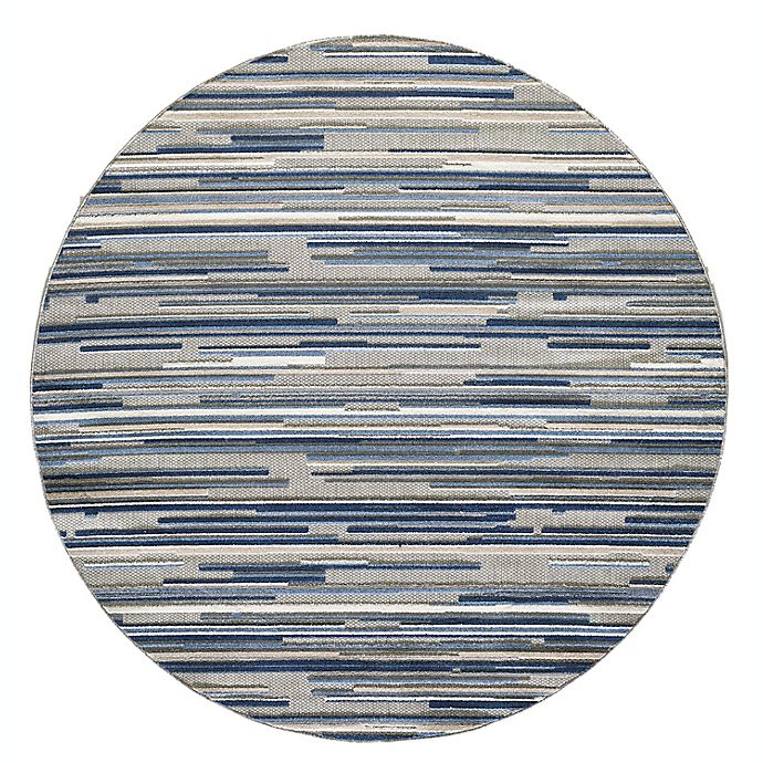 Alternate image 1 for KAS Calla Denni 7'10' Round Rug in Blue
