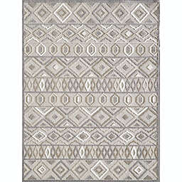 KAS Calla Aztec 6'7 x 9' Area Rug in Grey