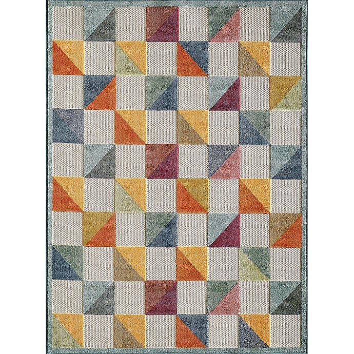 Alternate image 1 for KAS Calla Scope 2'2 x 4' Accent Rug in Blue