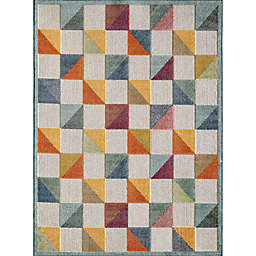 KAS Calla Scope 7'10 x 9'10 Area Rug in Ivory