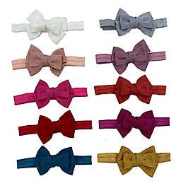 Danbar© Size 0-12M 10-Pack Bow Headbands