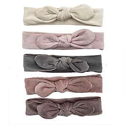 Danbar Size 0-12M Solid Velour Knot Headbands (Set of 5)