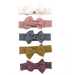 Danbar Size 0-12M Solid Bow Headbands (Set of 5)