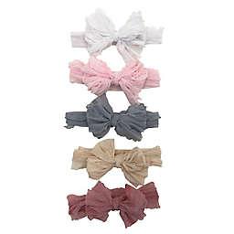 Danbar© Size 0-12M 5-Pack Pastel Bow Headbands