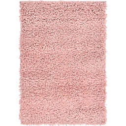 Unique Loom Davos Shag 2' x 3' Accent Rug in Dusty Rose