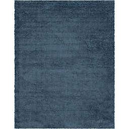 Unique Loom Davos Shag 10' x 13' Area Rug in Marine Blue