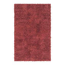 Unique Loom Davos 3' x 5' Shag Area Rug in Poppy