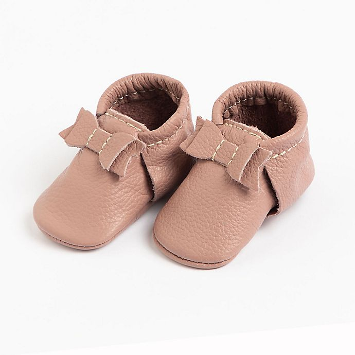 Alternate image 1 for Freshly Picked The First Pair Bow Moccasins in Mauve