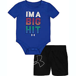Under Armour® Size 3-6M 2-Piece I'm A Big Hit Bodysuit and Short Set in Blue