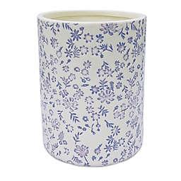 Wild Sage™ Eliza Poet Vignette Ceramic Wastebasket in Cream/Purple