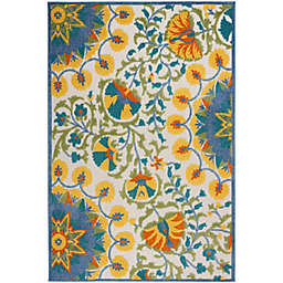 Nourison Aloha 6' x 9' Bold Floral Indoor/Outdoor Rug in Multi