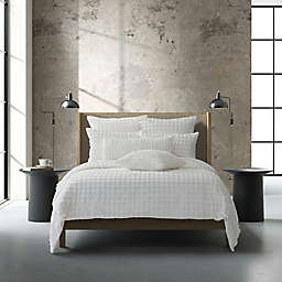 Oscar/Oliver Cameron 2-Piece Reversible Twin/Twin XL Duvet Cover Set in White