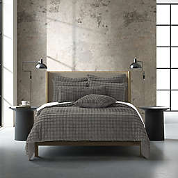 Oscar/Oliver Cameron 2-Piece Reversible Twin/Twin XL Duvet Cover Set in Grey