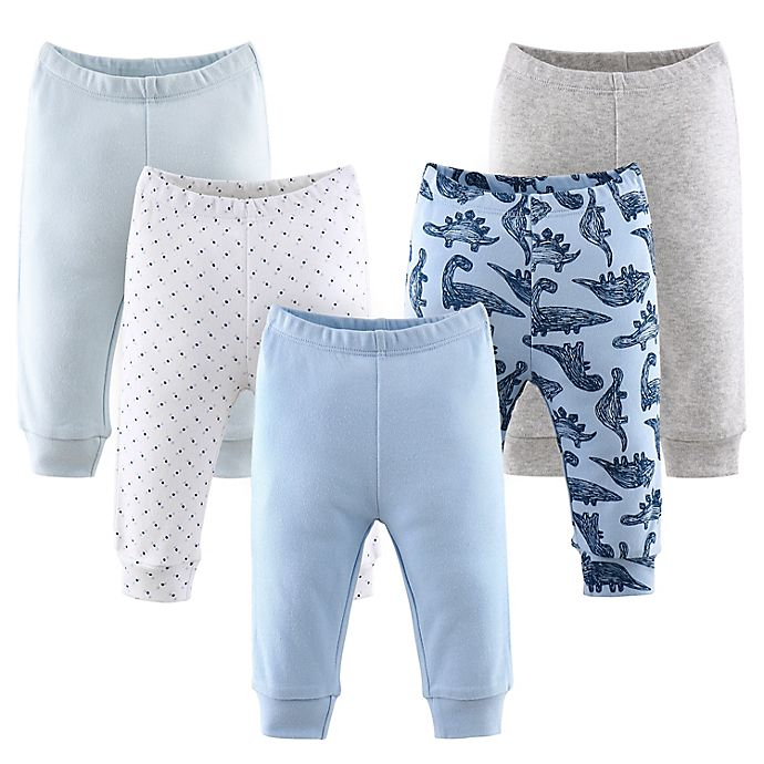 Alternate image 1 for The Peanutshell® Size 3M 5-Pack Dinos and Dots Pants