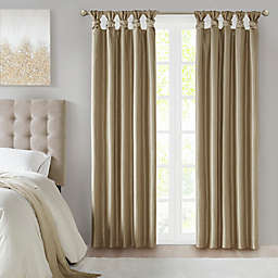 Madison Park® Emilia 95-Inch Twist Tab Total Blackout Window Curtain Panel in Bronze