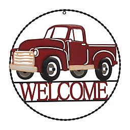 "Glitzhome® 20-Inch Farmhouse Metal Truck ""Welcome"" Wall Decor"