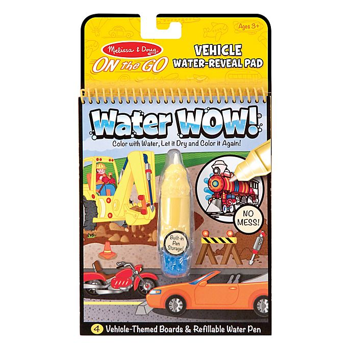 Alternate image 1 for Melissa and Doug® Water Wow!® 2-Piece Vehicle Water Reveal Pad