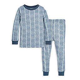 Burt's Bees Baby® 2-Piece Chevron Organic Cotton Pajama Set in Blue