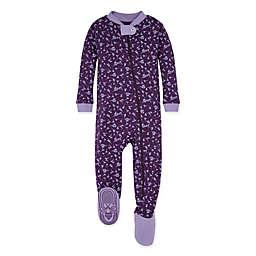 Burt's Bees Baby® Size 18M Organic Cotton Dusty Dandelion Footed Pajama in Purple