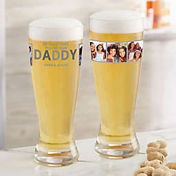 So Glad You're Our Dad Photo Pilsner Glass