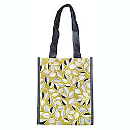 ACT Floral Reusable Shopping Tote in Mustard